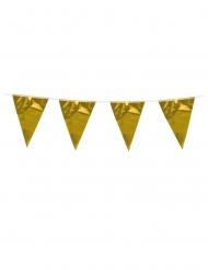 Guirlande à mini fanions dorés 3 m