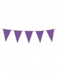 Guirlande à mini fanions violets 3 m
