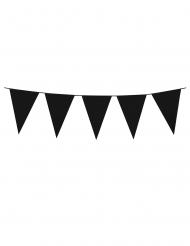 Guirlande à mini fanions noirs 3 m