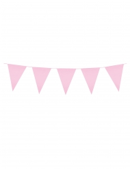 Guirlande à mini fanions rose pâle 3 m