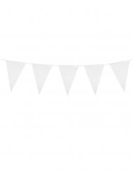 Guirlande à mini fanions blancs 3 m