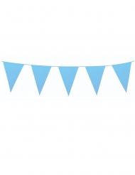 Guirlande à mini fanions bleus 3 m