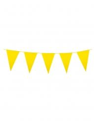 Guirlande à mini fanions jaunes 3 m