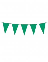 Guirlande à mini fanions verts 3 m