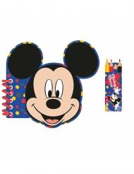 Kit papeterie carnet et crayons de couleurs Mickey Mouse™