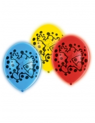 5 Ballons en latex LED Mickey Mouse™ 28 cm