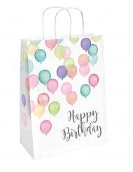 Sac à cadeaux Happy Birthday ballons pastel