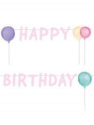 Guirlande Happy Birthday pastel 1,5 m