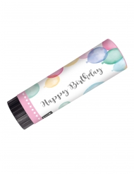2 Canons à confettis Happy Birthday pastel
