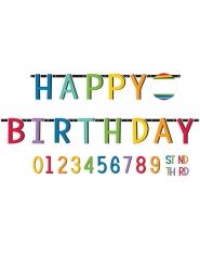 Guirlande Happy Birthday personnalisable 25 cm x 3,2 m