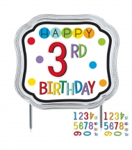 Cake topper Happy Birthday personnalisable