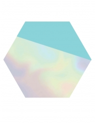8 Assiettes en carton hexagonales Shimmering Party 23 cm