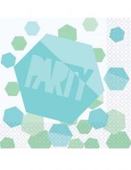 16 Serviettes en papier Shimmering Party 33 x 33 cm