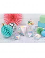 3 Centres de table prisme 3D Shimmering Party