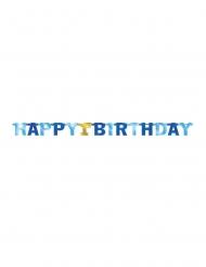 Guirlande en carton 1st Birthday bleue 213 cm