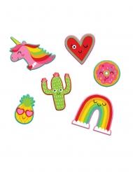6 Stickers mignons 5 x 5 cm