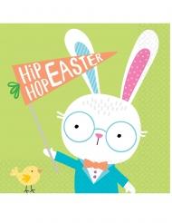 16 Serviettes en papier Hello Bunny 33 x 33 cm