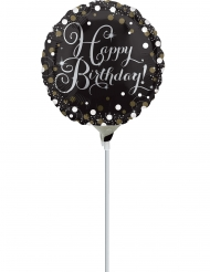 Ballon aluminium Happy Birthday sparkling 23 cm