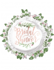 Ballon aluminium Bridal Shower blanc 76 x 71 cm
