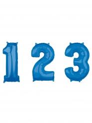 Ballon aluminium chiffre bleu 66 cm