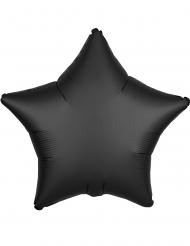 Ballon aluminium étoile satin noir 43 cm