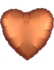 Ballon aluminium coeur cuivré satiné 43 cm