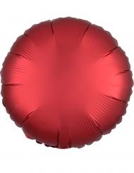 Ballon aluminium rond satin ruby 43 cm