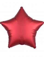 Ballon aluminium étoile satin ruby 43 cm