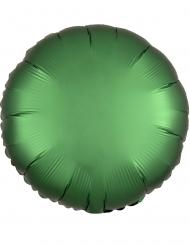 Ballon aluminium rond satin émeraude 43 cm