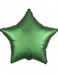 Ballon aluminium étoile satin émeraude 43 cm