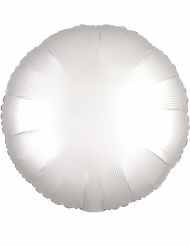 Ballon aluminium rond satin blanc 43 cm
