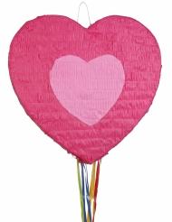 Piñata cœur rose 56 x 50 cm