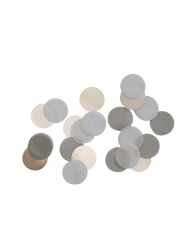 Confettis de table gris et blanc 15 g