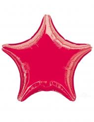 Ballon aluminium en forme d'étoile rouge 43 cm