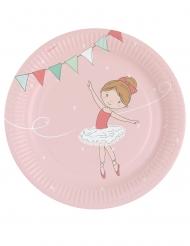 8 Assiettes en carton Petite Ballerine 23 cm