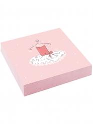 20 Serviettes en papier Petite Ballerine 33 x 33 cm