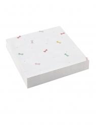 20 Petites serviettes en papier Petite Ballerine 25 x 25 cm