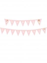 Guirlande de fanions Happy Birthday Petite Ballerine 180 cm
