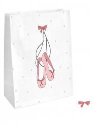 4 Sacs cadeaux en papier Petite Ballerine avec stickers