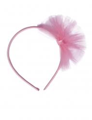 Serre-tête Petite Ballerine avec pompon rose enfant