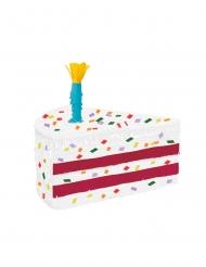 Piñata part de gâteau rose 48 x 25 x 28 cm