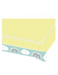 Nappe en papier Petit Nuage menthe et jaune 115 x 175 cm
