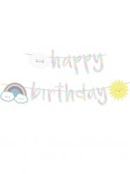 Guirlande Happy Birthday Petit Nuage iridescent 180 cm