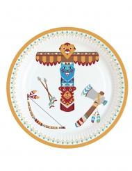 8 Petites assiettes en carton Tippie des tribus 18 cm