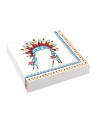20 Serviettes en papier Tippie des tribus 33 x 33 cm