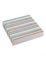 20 Petites serviettes en papier Tippie des tribus 25 x 25 cm