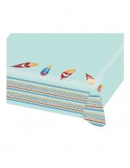 Nappe en papier Tippie des tribus bleue 115 x 175 cm