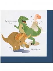 20 Serviettes en papier Grands Dinosaures 33 x 33 cm