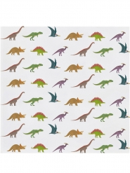 20 Petites serviettes en papier Grands Dinosaures 25 x 25 cm