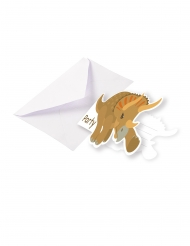 8 Cartons d'invitations avec enveloppes Grands Dinosaures